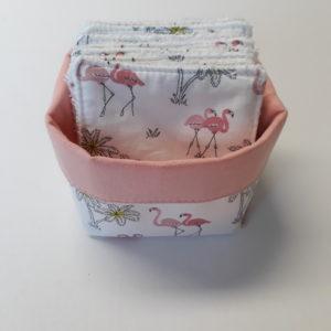 lingettes démaquillantes lavables flamants roses